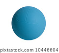 Dodgeball in blue color on white background 10446604