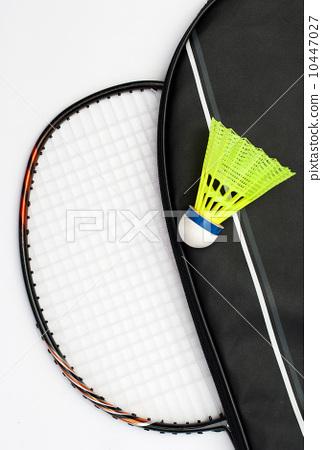 Badminton racket and shuttlecock 10447027