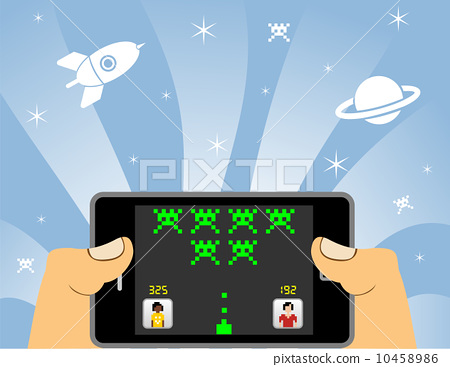 smart phone online gaming 10458986