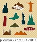World landmark silhouettes 10459011