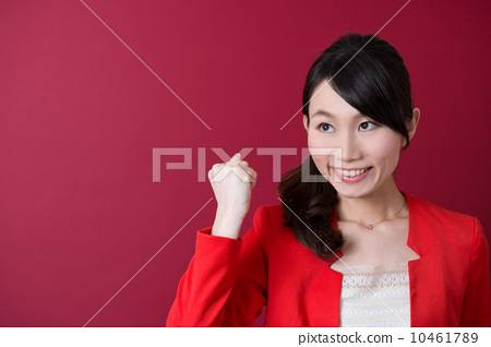 Business woman in a red jacket 10461789