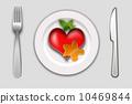 Breakfast heart 10469844
