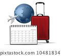 飛機 日曆 月曆 10481834