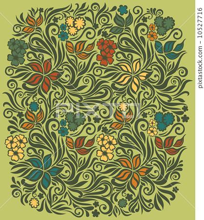 Decorative floral background 10527716