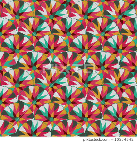 Seamlees Pattern with Symmetry Decoration 10534345