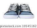 Modern blue gumshoes isolated on white 10545162