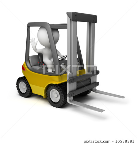 3d small people - forklift 10559593