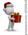 small, santa, gift 10560818