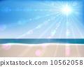 Summer sea beach  vector background. EPS10 file. 10562058