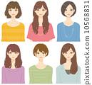 ผู้หญิงทรงผมต่าง ๆ 10568831