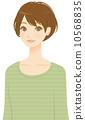 ผู้หญิงผมสั้น 10568835
