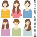 ผู้หญิงทรงผมต่าง ๆ 10569249