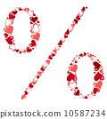 Symbol of hearts vector illustration 10587234