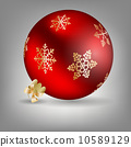 ornament, red, holiday 10589129