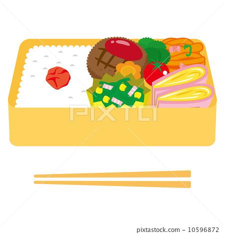 便当 午餐盒 矢量 10596872