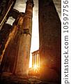 Baalbeck ruins in sunset 10597756