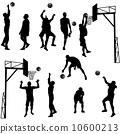 人影 籃球 剪影 10600213