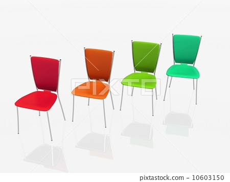 group of chairs stand in a row 10603150