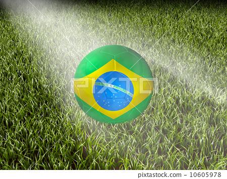 Stock Illustration: brazil on grass