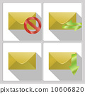 Set of icons four envelopes 10606820
