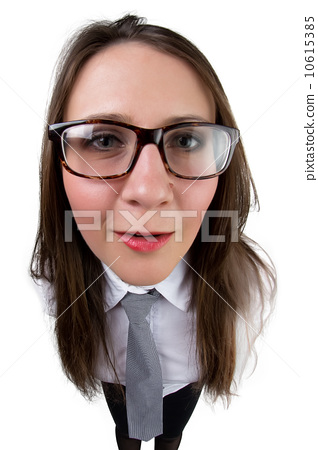 Funny businesswoman with glasses 10615385
