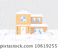 residential, fallen snow, housing 10619255