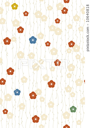 Seamless pattern · Mei flower flowing (coloring · transparent) 10640818
