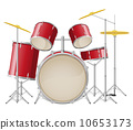 drum set vector illustration 10653173