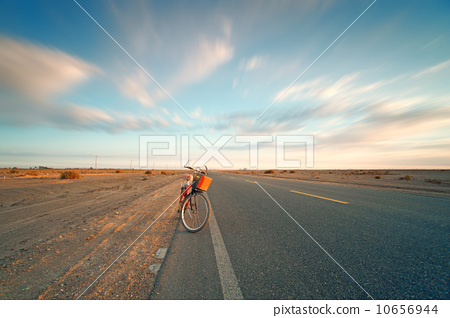 沙漠中的公路 10656944