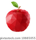 Polygonal apple 10665055