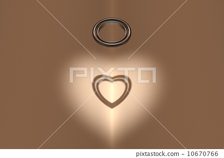 Shadow of ring and heart 10670766