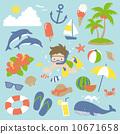 潛水 矢量 夏天 10671658