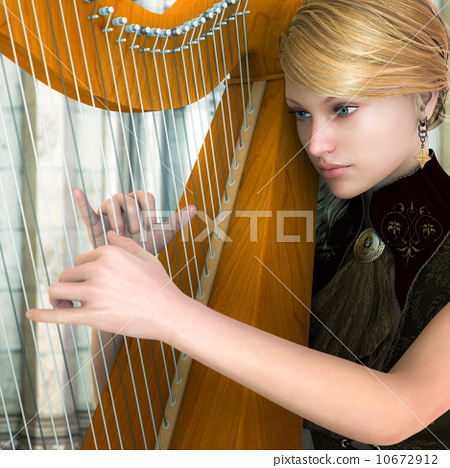 Playing the Harp 10672912