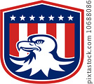 American Bald Eagle Head Flag Shield Retro 10688086