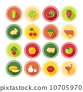 Food icons set 10705970