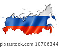 Russian flag map 10706344