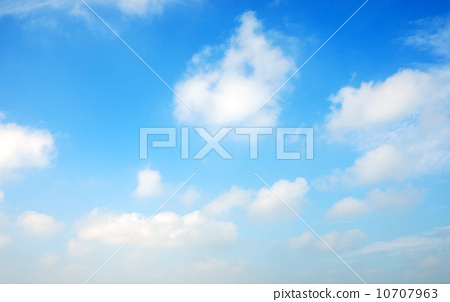 Blue sky and white clouds 10707963