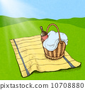Picnic basket with food and wine 10708880