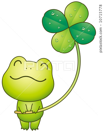 Frog and four leaf clovers 10715778