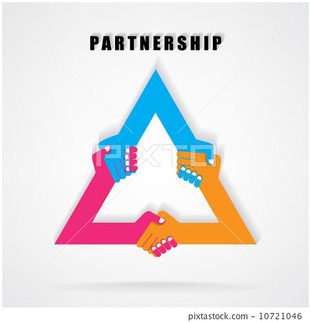 Handshake abstract sign vector design 10721046