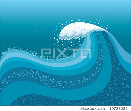 Big wave in ocean.Water background 10728326
