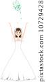 wedding, dress, bouquet 10729428