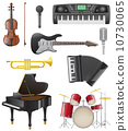 set icons of musical instruments vector illustration 10730065