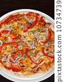 蘑菇 進餐 火腿 10734739
