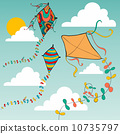 Colorful flying kites 10735797