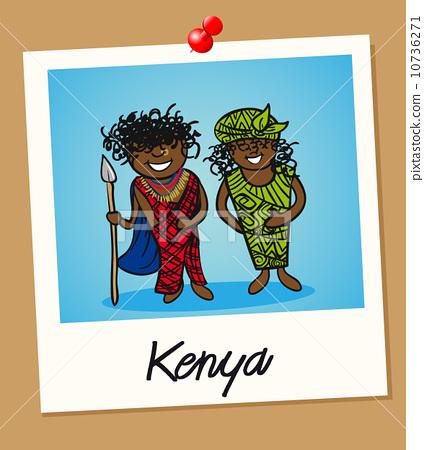 Kenya travel polaroid people 10736271