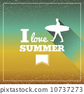 Vintage summertime vacations poster. 10737273
