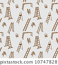 Seamless pattern of ladder silhouette. vector illustration. 10747828