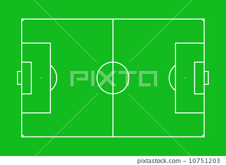 Football field top view single color 10751203