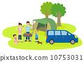 바베큐를하는 가족 10753031
